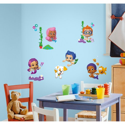 RoomMates RMK2404SCS Bubble Guppies Peel and Stick Wall Decals, 1-Pack