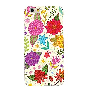 Clapcart Flowers Printed Mobile Back Cover for Apple iPhone 6S / 6 -Multicolor