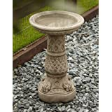 Garden Bird Bath Feeder - Lions Foot Design Stone Birdbath
