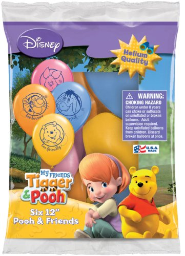 "Disney Pooh and Friends 12"" Assorted Color Balloons - 1"