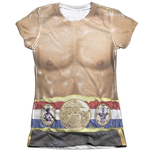 Rocky Costume (Front Back Print) Juniors Sublimation Shirt