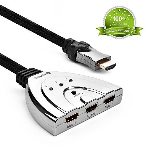 Kinps®メッキ材料 スマート 自動切替機能 3ポートHDMI切替器/セレクター [並行輸入品]