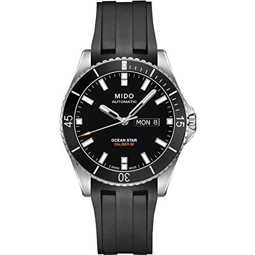 mido-ocean-star-captain-v-herren-armbanduhr-425mm-armband-kautschuk-schwarz-automatik-m0264301705100