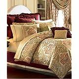 Lovely Waterford Bedding Delaney Gold Floral King Duvet Cover