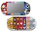 Super Hero Characters Minimal Bat Man Robin Captain America Luigi Video Game Vinyl Decal Skin Sticker Cover for Sony Playstation Vita Slim 2000 Series System