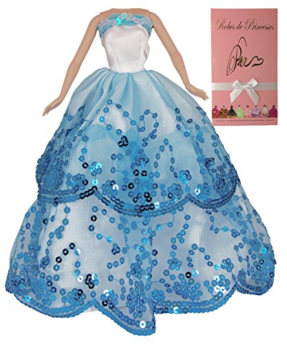 """Vestito da principessa """"OCEANNE"""" per Bambole Barbie, Disney ed altri personaggi. """"serie limitata"""""""