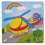 Puzzle Inlay Puzzle in legno - 24 div...