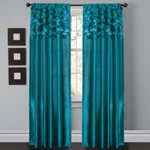 Dream window curtain panels turquoise set of 2 home amp kitchen