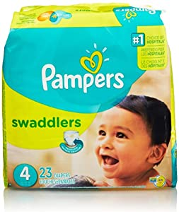 Pampers Swaddlers Diapers, Size 4, Jumbo Pack, 23 Count