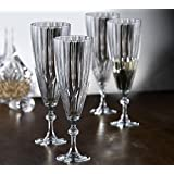 Fifth Avenue Crystal Reflections Champagne Flutes, Set of 4