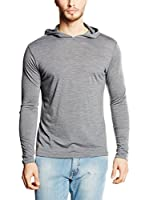 super natural Camiseta Manga Larga Voyage Hoody (Gris)