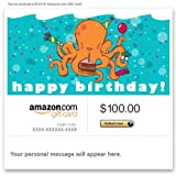 Amazon Gift Card - E-mail - Happy Birthday (Octopus)