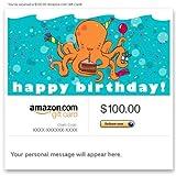 Amazon Gift Card - Email - Happy Birthday (Octopus) ~ Amazon