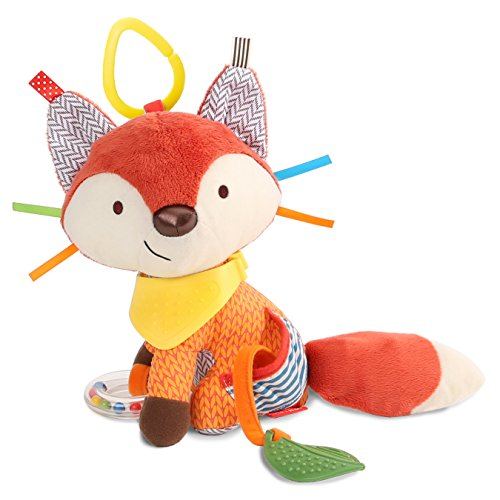 Skip Hop Baby Bandana Buddies Multi-Sensory Soft Plush Toy, Fox