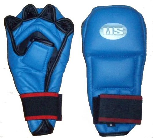 KARATE TAEKWONDO BOXING OPEN FINGER COBRA GLOVES BLUE LARGE