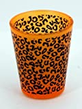 Wrap Around Shot Glass ~ Neon Orange Cheetah Shot Glass