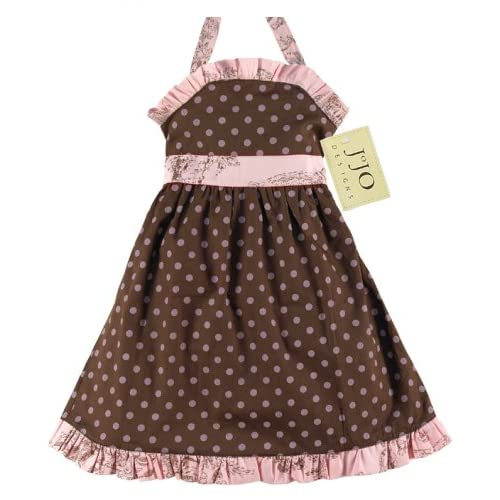 JoJo Designs Baby Pink and Brown Party Dress