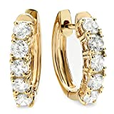 1.00 Carat (ctw) 14K Yellow Gold Ladies Huggies Hoop Earrings 1 CT
