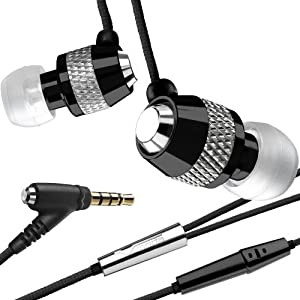 V-MODA Vibe Duo In-Ear Noise-Isolating Metal Headphone with Universal One-Button Mic (Nero) (Discontinued by Manufacturer)