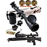 Ledsniper®riflescope 6-24x50 Aoe Red & Green & Blue Illuminated Mil-dot Adjustable Intensified Rifle Scope + Sunshade + Flip-up Caps + Rail Mounts