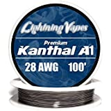 Kanthal 28 AWG Gauge A1 Wire 100' Roll .32mm , 5.27 Ohms/ft Resistance