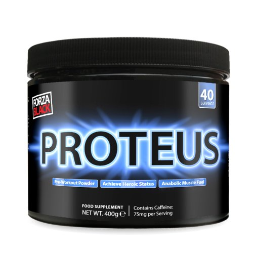 Forza 400g Proteus Pre Workout Energy Powder Orange Flavour Instantised Muscle Performance Drink