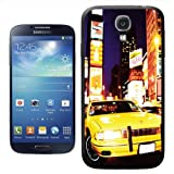 Yellow Taxi Cab in New York Times Square USA Hard Case Clip On Back Cover For Samsung Galaxy S4 i9500