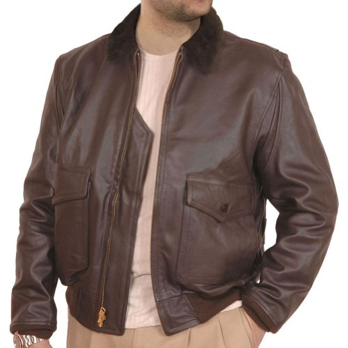 San Diego Leather Jacket Factory G1 Navy Leather Flight Jacket -Dark Brown-42 Navy G 1 Flight Jacket