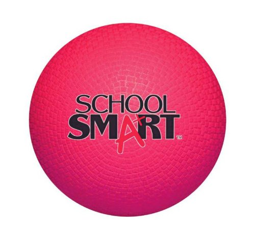 "School Smart 1293603 Rubber Playground Ball, 5"", Red"