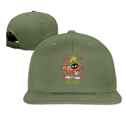 [NORAL Snapback Baseball Eat,drink,be Martian! Hats Caps ForestGreen] (Looney Tunes Martian Costume)