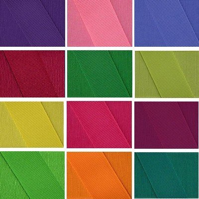 Grosgrain Ribbon Group 12 Rolls 3 Inch, 24 Yards