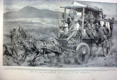 Hors De à des Terrains aurifères Dans l'Impression Afrique d'Antiquité du Transvaal