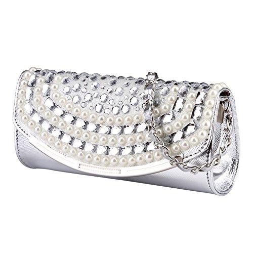 Messenger Bag/Sac à main dames diamant/Petit sac chaîne perle