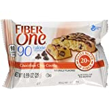Fiber One Snacks 90 Calorie Chocolate Chip Cookie Brownies, 6 Count (Pack of 6)