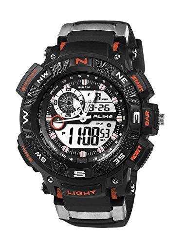 Colofan Nuovo arrivo AK1389 Sport Gioco sport di modo di orologio al quarzo digitale Dress casual impermeabile Hike doppio Dispaly da polso (arancione)