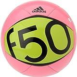 Pelota de Fútbol Adidas  Performance F50 X-ite II tamaño 3, color rosado Zest,verde solar y negro
