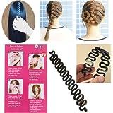 Cheveux Tressage Styling Fabricant Plastique Chignon Outil Crochet Coiffure Clip Bun Maker