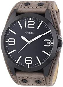 Guess Herren-Armbanduhr XL Mens Trend Analog Quarz Leder W0181G3