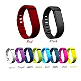 NEWLIBO Set 10 Colors Replacement Bands for Fitbit FLEX