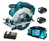 Makita 18V LXT BSS611 BSS611Z BSS611Rfe Circular Saw, 2 X BL1830 Batteries, DC18RC Charger And LXT600 Bag