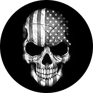 Customgrafixtirecoverstm flag skull black and white tire cover 35 automotive - Wallpaper 600x600 ...