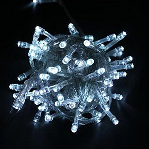 Wootop-10M 100 Led White Fairy Light String Holiday Lights For Christmas Party Led-Xs-White