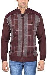 Captor Men's Acrylic Sweater (7989A, Mauve, X-Large)