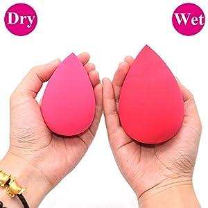 Dolovemk Extra Large Size Makeup Beauty Egg Blender Sponge (Non-Latex) Face Foundation Blending Puffs, Height:8.5cm(Dry)/10cm(Wet) (Rose)