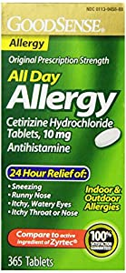Good Sense Cetirizine HCL Tablets, 10 mg, 365 Count
