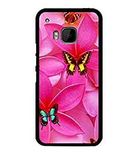 printtech Butterfly Flowers Back Case Cover for HTC One Hima