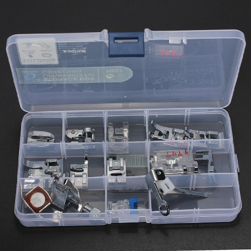 BABAN 15pcs Presser Foot Set for Janome Toyota Brother Singer Domestic Sewing Machine