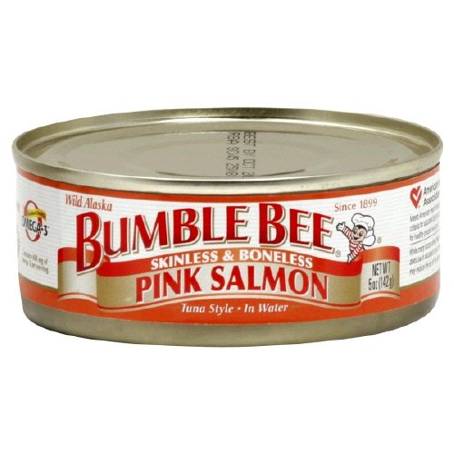 Bumble Wild Alaska Bee Pink Salmon Skinless and Boneless 5 Oz (Pack of 12) (Bumble Bee Canned Salmon compare prices)