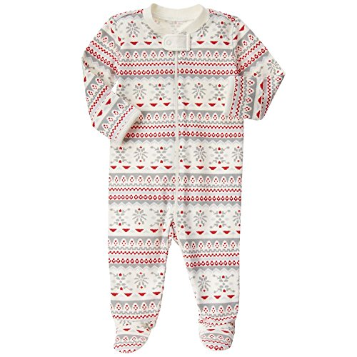 Gymboree Baby Red and Grey Fairisle Footed Onepiece