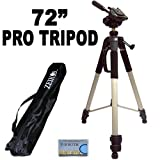 Professional PRO 183 cm Super Strong Tripod With Deluxe Soft Tripod Carrying Case For The Panasonic Lumix DMC-TS4, FT4, TS20, FT20, ZS20, TZ30, LZ20, FZ60, FZ62, FZ200 Digital Camera